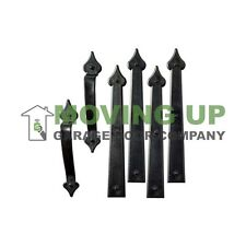 Premium Magnetic Decorative Spade Handle and Hinge Set Garage Door