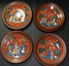 Haviland Limoges La Dame a la Licorne plates 1977/1979/1980/1981 set of 4 NICE