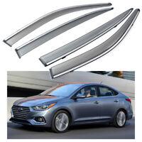 Window Visor Sun Rain Wind Deflector for Hyundai Accent GSL Sedan 4dr 2006-2011