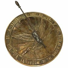 Metal Brass Sundial Watch Wind Clock Roman Lawn Outdoor Garden Decor Antique
