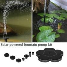 Solar Powered Floating Fountain Pond Pool Water Pump For Bird Bath Tank Garden