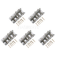 5 Sets Chrome Vintage 4 String Bass Bridge For Fender Jazz/P Bass Guitar Parts