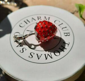 Thomas Sabo Charm-Anhänger Erdbeere, 925er Sterlingsilber