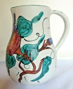 Vintage Sigma Pottery Hand Made Hand Painted Jug Milk Water Jug 6.5 Inch Height