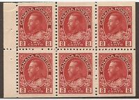 CANADA #106a MINT BOOKLET PANE F/VF NH