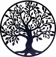 Black Tree Of Life Metal Hanging Wall Art *99 Cm Round Sculpture Home  Garden BIG