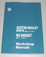 Werkstatthandbuch MG Midget Mk. I II III + Austin Healey Sprite, Bj. 1961 - 1974