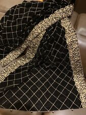 Designer Heavily Embroidered Velvet Shawl/ Scarf in Black With Gold