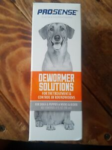2-Pro-Sense DEWORMER SOLUTIONS FOR DOGS  PUPPIES Treatment Control of Roundworms