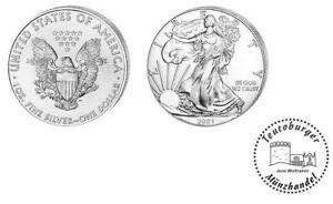 USA  American Eagle 2021  Anlage Münze 1 oz - Unze  999 Silber * St / BU *