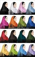 Solid color Net shawl Islamic Fashion Scarf Hijab Wrap Plain Shawl Wrap Scarf