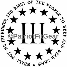 The Right Of The People To Keep And Bear Arms,Shall Not,3%,Molon Labe,VinylDecal