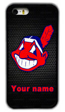 Custom Cleveland Indians Personalised Name Rubber Phone Case For iPhone/ Samsung