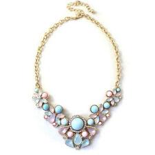 New Women Charm Crystal Beads Chunky Pendants Bib Chain Necklace Jewelry Fashion