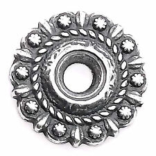 "Rope And Berry Bezel Concho in Antique Silver 3/4"" 7785-13"
