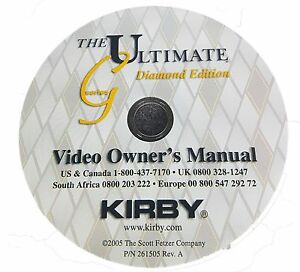 Kirby Vacuum Cleaner Owners Instruction Manual DVD For Kirby G3 G4 G5 G6 G7
