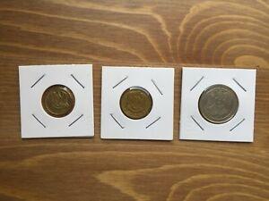 SYRIA , SYRIE 3 COINS 5 /10 PIASTRES 1965 / 10 POUND 1996