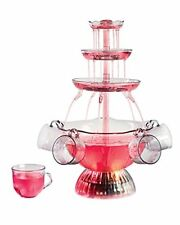 Lighted Party Fountain Punch Drink Bowl Set 5 Cups Wedding Beverage Dispenser