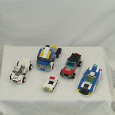 Lego lot of 5 city cars police fire cars and truck  - fun read