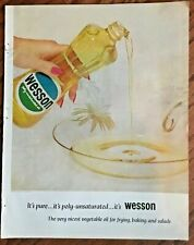 Wesson oil ad 1962 vintage magazine print ad 1960s original bottle art  logo