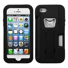 Dual Layer Bottle Opener Case with Stand for Apple iPhone 5/5S/SE