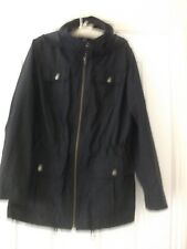 Ladies M&S  Hooded Navy Rain Jacket  BNWOT  size 14