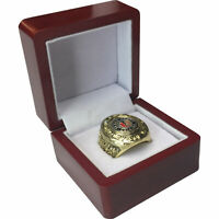 1938 Chicago Blackhawks Stanley Cup 18k GP Brass Championship Ring & Wood Box