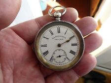 QUALITY ANTIQUE GENTS SILVER POCKET WATCH WORKING