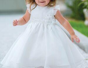 Sarah Louise Designer 070109 Baby Girls Ceremonial Dress White 18m RRP £76