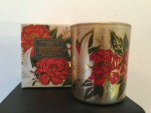 Gisela Graham Doves & Roses Scented Votive Christmas Candle 8cm