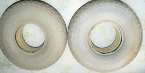 Pair of used solid foam filled 4.00-5 tires for mobility scooter and wheelchair
