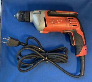 "MILWAUKEE 3/8"" (10mm) Electric DRILL 2800 RPM 0240-20 120V Keyless Chuck Manual"