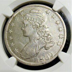 1832 50C Small Letters, O-114, AU Details Improperly Cleaned NGC.