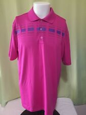 Adidas Golf Pure Motion Men's Purple Polo Shirt Size Large Polyester