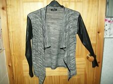 ***LOOK*** BEBO BLACK/GREY DETAILED CARDIGAN/SHRUG SIZE 18-20 APPROX[M] ***