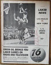 Rudy LaRusso signed autographed vintage magazine - VERY rare, unique Lakers auto