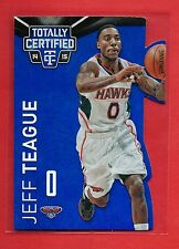 Jeff Teague Die Cut Blue 44/74 2014-15 Certified 10 Wake Forest - Indiana Pacers