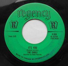 *THE EARLS It's you / Life is but a dream CANADA ORIG 1961 DOO WOP Regency 45