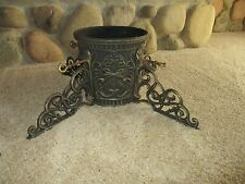 """Vtg Large ORNATE CAST IRON HEAVY DUTY CHRISTMAS TREE STAND  Trunk 3"""" - 7"""""""