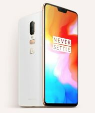 "OnePlus 6 Silk White 8GB/128GB 6.28"" Dual16 + 20MP Octa Core Phone USA FREESHIP*"