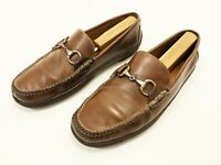 PETER MILLAR Horse Bit Mens Leather Brown Casual Driving Loafers Slip On Sz 10M