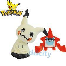 "Pokemon Center Sun and Moon 12"" Mimikyu & 6"" Rotom Pokedex Plush Toy Doll  2pcs"