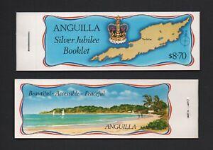 ANGUILLA 1977 SILVER JUBILEE $8.70 STAMP BOOKLET (SB1) *FINE & COMPLETE*