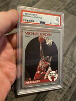 Michael Jordan PSA 7 NBA Hoops 1990 #65 Card Collector Goat Chicago Bulls INVEST