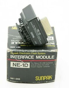 Sunpak Interface Module NE-1D For Nikon FE, FM, EM etc Cameras. Unused. Box.
