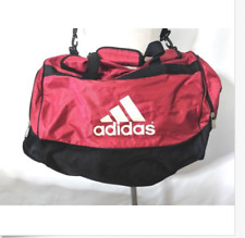 Adidas Duffel Bag Carry On Red Black Gym Large Travel Weekender Spell Out  Logo 06ace6b5d4679
