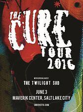 "The Cure 2016 salt lake city 16"" x 12"" Photo Repro Concert Poster"