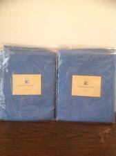 "Pottery Barn Kids 4 Blue Linen Tie-Top Panels 44"" X 63"" NIP"