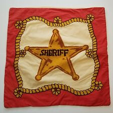 Company Store Sheriff Badge Pillow Sham Cover Cowboy Western Kids Vintage 18in
