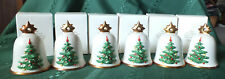 1984 Goebel Hummel Annual Christmas Bell Ornament Tree-First Edition-Lot of 6